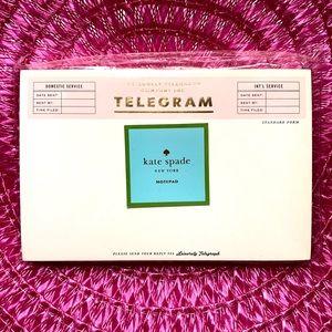 NWT Kate Spade Telegram Notepad